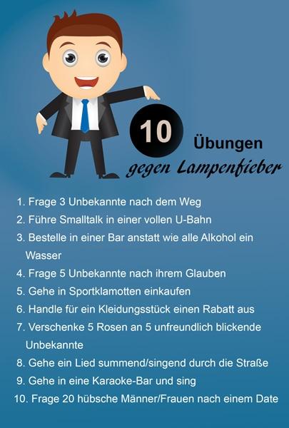 10 Übungen gegen Lampenfieber