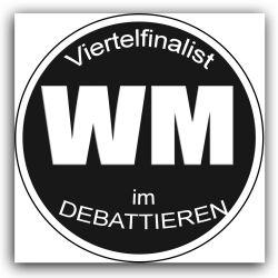 Quarter finalist Debattier Weltmeisterschaft | Argumentorik